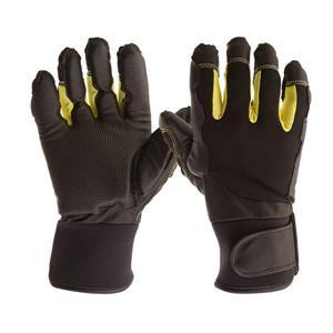Gants de Mécanicien Antivibrations, noir/jaune, médium