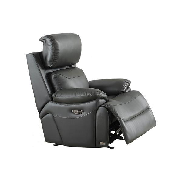FAMV New York Electric Reclining Armchair - USB Port -Dark Grey