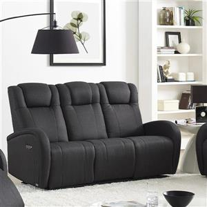 FAMV Marseille Reclining Sofa - Motorized - USB Ports - Charcoal