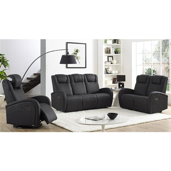FAMV Marseille Reclining and Electric Armchair - Charcoal