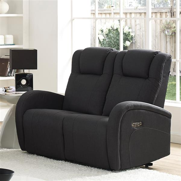 FAMV Marseille Reclining Loveseat - Electric - Charcoal