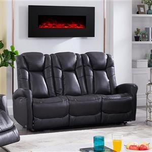FAMV Limoge Reclining Motorized Sofa - USB Port - Dark Grey