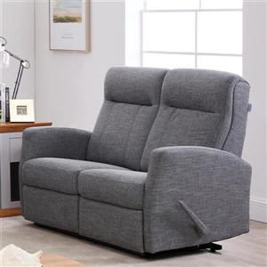 FAMV Paris Reclining Loveseat with Modern Curves