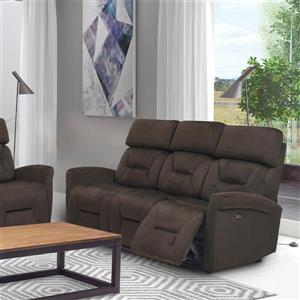 FAMV Barcelona Electric Recliner Sofa - 3-Place - Chocolate