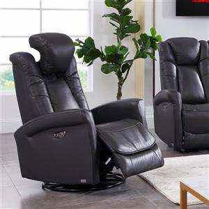 FAMV Limoge Rocker Recliner Armchair - Electric - Dark Grey
