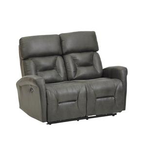 FAMV Barcelona Electric Recliner Loveseat - Faux Leather Grey