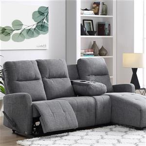 FAMV Faro Recliner Sectional Right-hand Facing Long chair - Grey