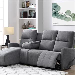 FAMV Faro Recliner Sectional Left-hand Facing Long chair - Grey