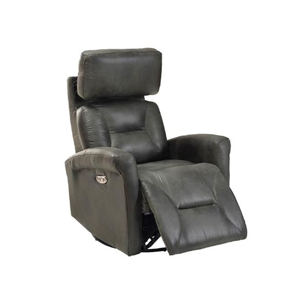 FAMV Barcelona Electric Rocking Chair - Grey leather lookalike