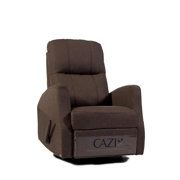 FAMV Athens swivel glider recliner manual chair - Coffee
