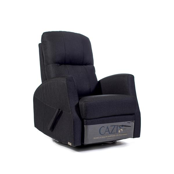FAMV Athens swivel glider recliner manual chair  - Charcoal