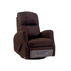 FAMV Athens swivel glider recliner manual chair - Chocolate