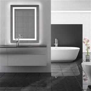 """Miroir avec éclairage à DEL Vienna, rectangulaire, 42""""x30"""""""