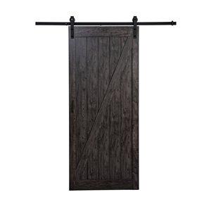 "ReliaBilt Iron Age Z Design Rustic Barn Door w/ Hardware Kit - 36""x84"""