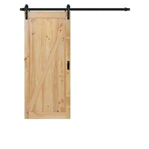 """ReliaBilt Pine Z Design Barn Door w/ Hardware Kit - 42"""" x 84"""""""