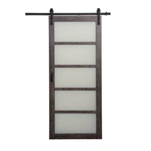 """ReliaBilt 5 Lite Design Barn Door with Hardware - 36"""" x 84"""""""