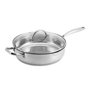 Hamilton Beach Heavy Duty Stainless Steel Saute Pan With Lid, 11""
