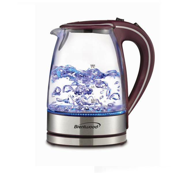 Brentwood Cordless Glass Electric Kettle - Purple - 1.7L