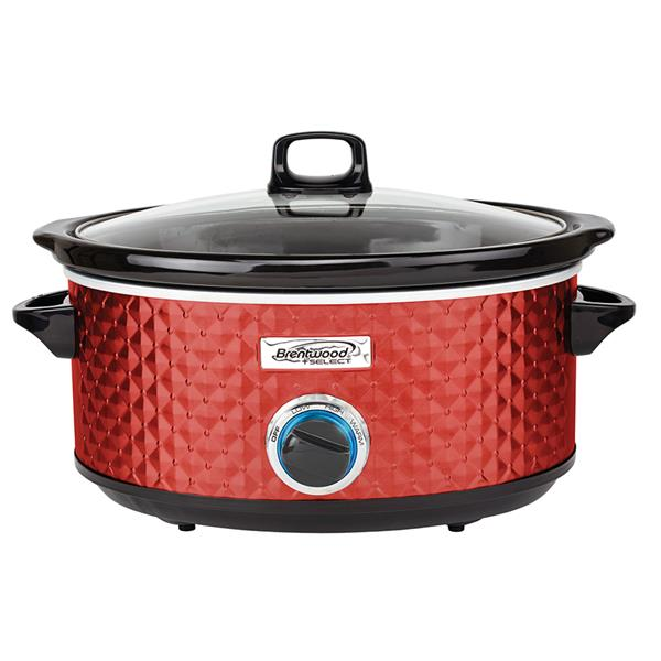 Brentwood Select 7QT Slow Cooker - Red