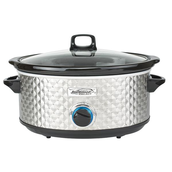 Brentwood Select 7QT Slow Cooker, Silver