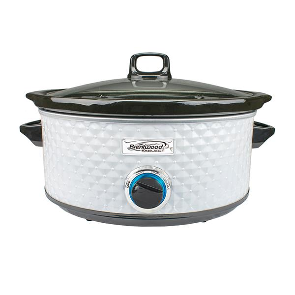 Brentwood Select 7QT Slow Cooker - White