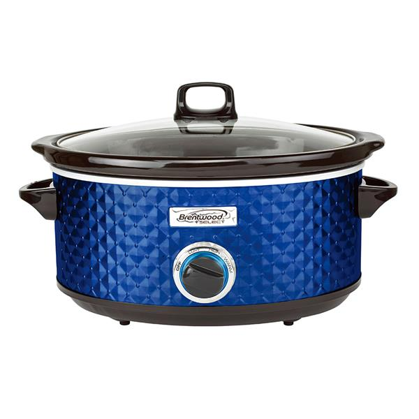 Brentwood Select 7QT Slow Cooker - Navy Blue