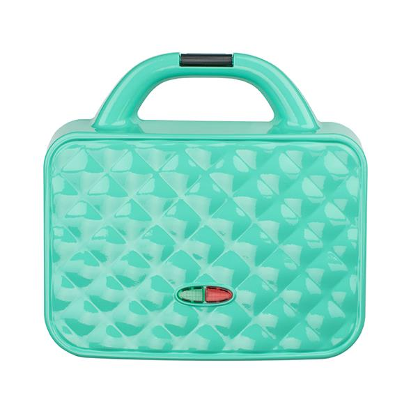 Brentwood Couture Purse Design Dual Waffle Maker, Blue