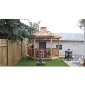 Cedarshed Hexagonal Gazebo - 10' - Red Cedar
