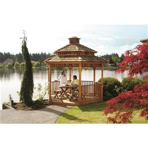 Cedarshed Hexagonal Gazebo - 2-Tier - 10' - Red Cedar