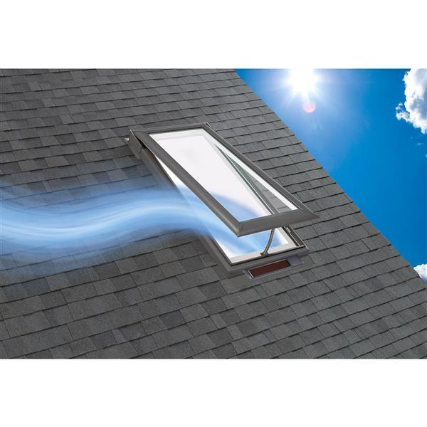 VELUX Solar Venting Deck Mount Skylight - 44.75-in x 46.25-in