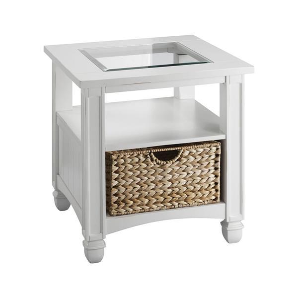 Stein World Nantucket Side Table - 25.25-in - White