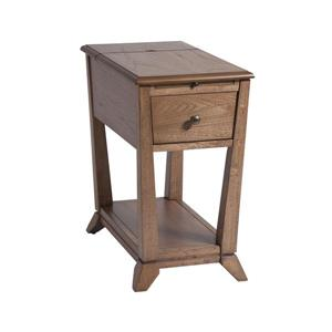 Stein World Creel Side Table - 23-in - Brown