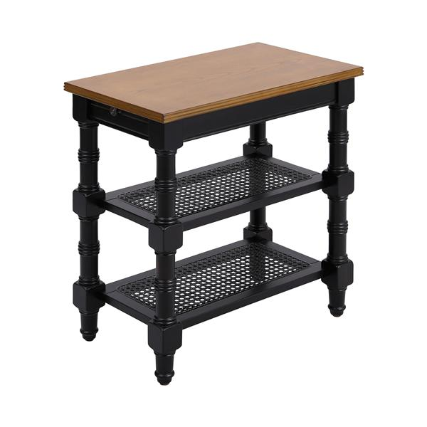 Stein World Seneca Falls Side Table - 24-in - Black