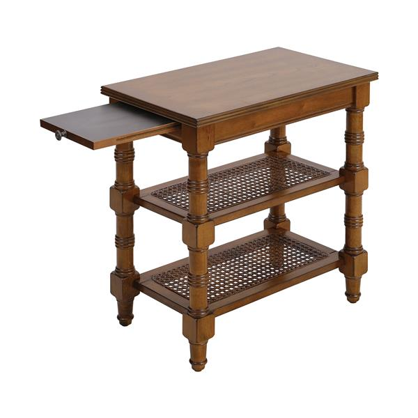 Stein World Seneca Falls Side Table - 24-in - Brown