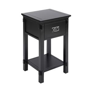 Stein World Cheboygan Side Table - 28-in - Black