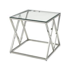 Stein World Manhasset Side Table - 21.6-in - Chrome