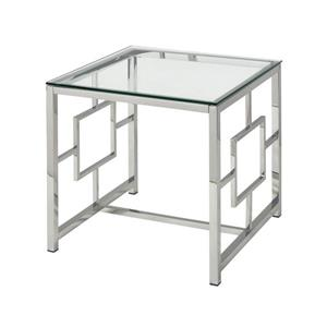 Stein World Winter Palace Side Table - 21.6-in - Chrome