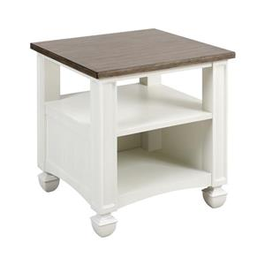 Stein World Nantucket Side Table - 25-in - White