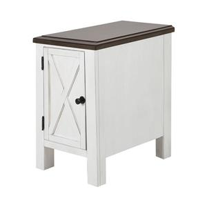 Stein World Chippewa Side Table - 25-in - White