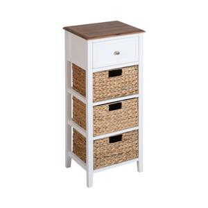 Stein World Pismo Beach Side Table - 28-in - White