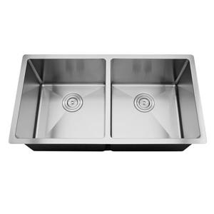 Elegant Stainless Double Undermount Sink - 34-in - Stainless Steel