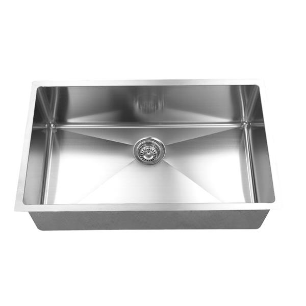 Elegant Stainless Single Undermount Sink - 32-in - Stainless Steel