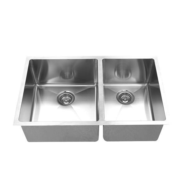 Elegant Stainless Undermount Sink - 30-in - Stainless Steel