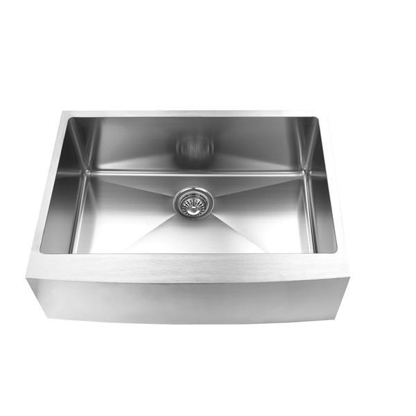 Elegant Stainless Farmhouse/Apron Kitchen Sink - 30-in - Stainless Steel