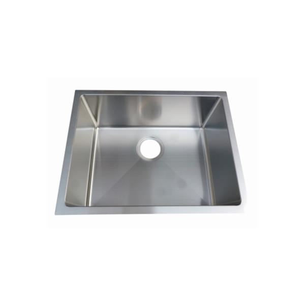 Elegant Stainless Single Undermount Sink - 23-in - Stainless Steel - Nickel