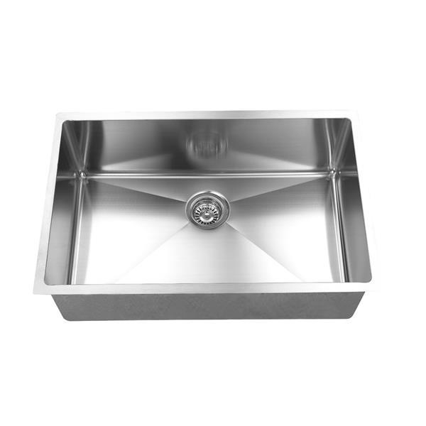 Elegant Stainless Single Undermount Sink - 26-in - Stainless Steel