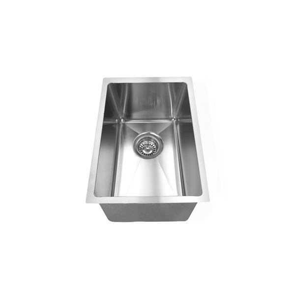 Elegant Stainless Single Undermount Sink - 17.75-in - Stainless Steel