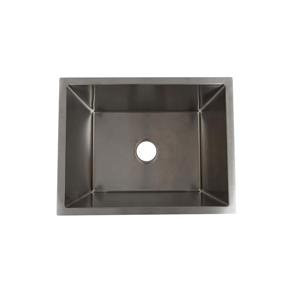 Elegant Stainless Laundry Sink - 20-in - Stainless Steel