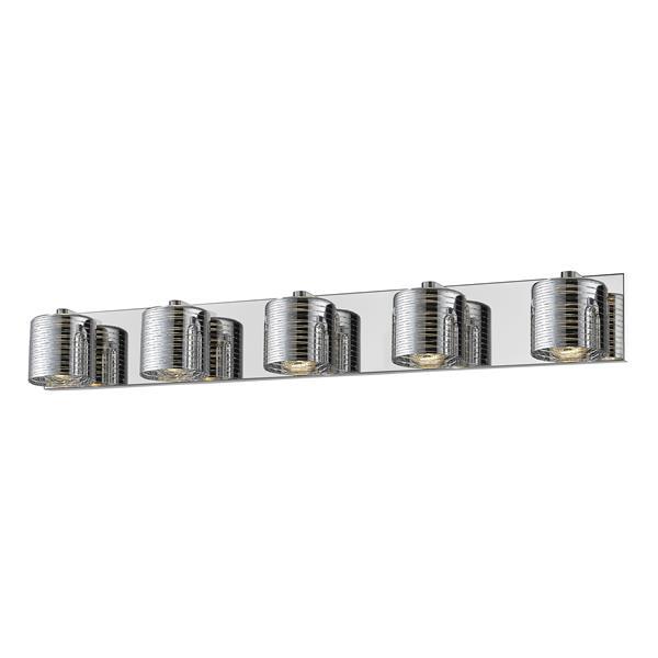 Z-lite Z-Lite Sempter Bathroom LED Vanity Light - 5-Light - Chrome 911-5V-LED