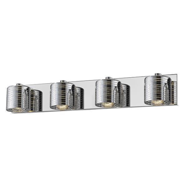 Z-lite Z-Lite Sempter Bathroom LED Vanity Light - 4-Light - Chrome 911-4V-LED